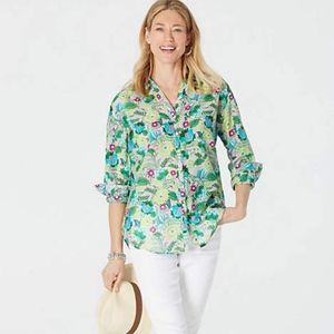 J.Jill - XL - Gorgeous Cotton & Silk Floral Shirt